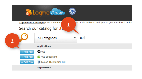 LogMeOnce-Adding-AOL-Website.PNG